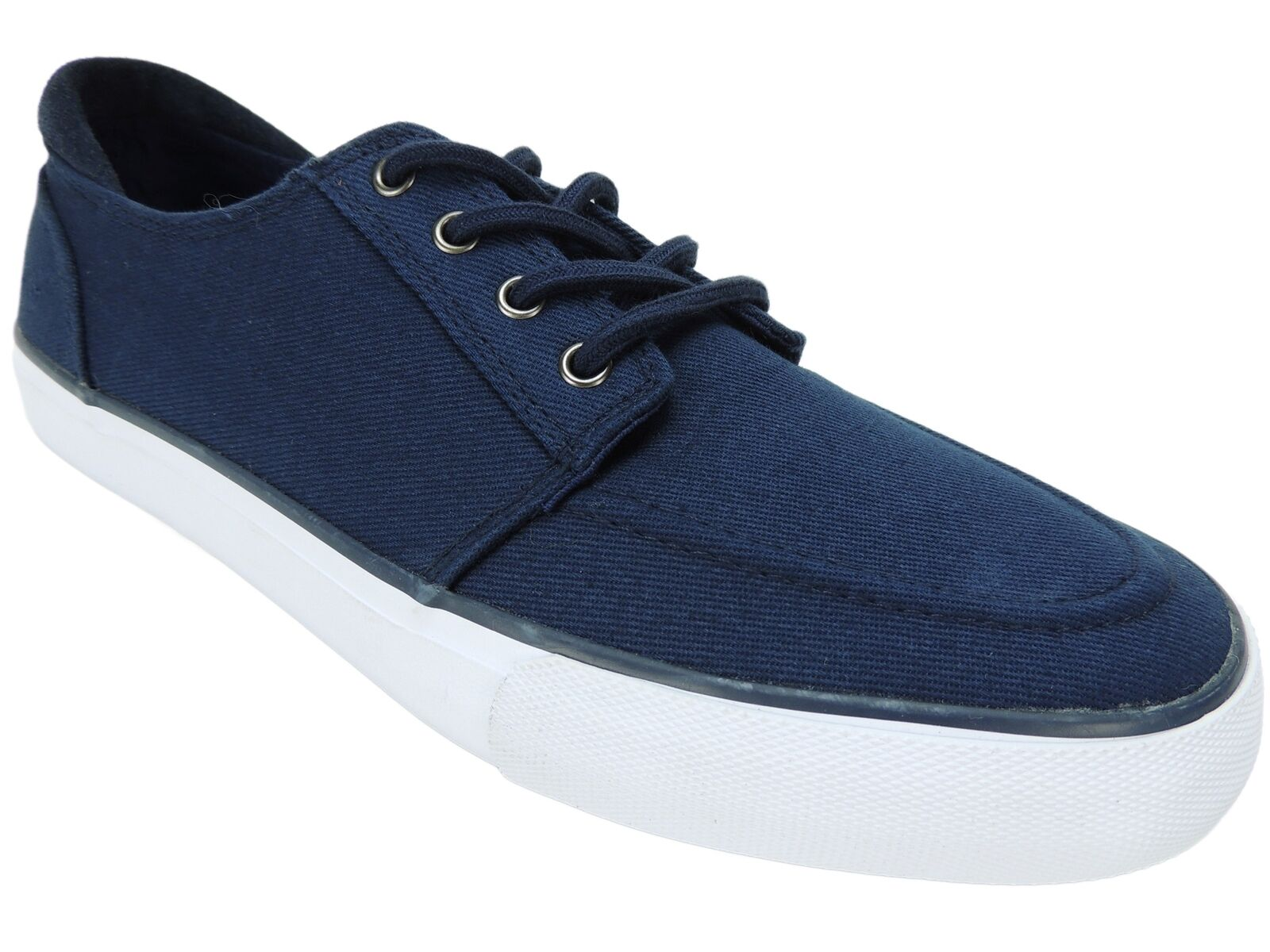 Marc New York by Andrew Mark Men's Pembroke Oxfords Navy bluee Canvas Size 9.5 M