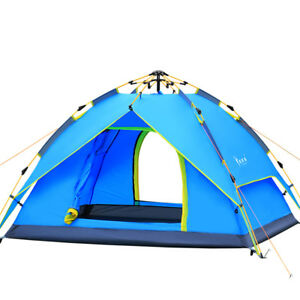 64cf70e0dbb Waterproof 3-4 People Automatic Instant Pop Up Family Tent Camping ...