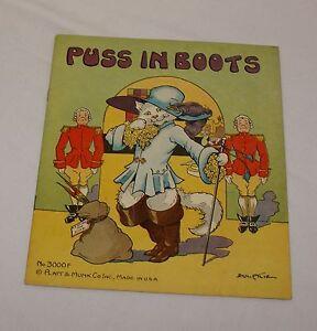 Puss-In-Boots-3000F-Platt-amp-Munk-Eulalie-Banks-Vintage-1934-Childrens-Book