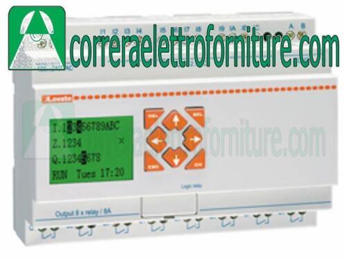 Rele/' programmabile 12 ingressi e 8 uscite 24Vac LOVATO LRD20RA024