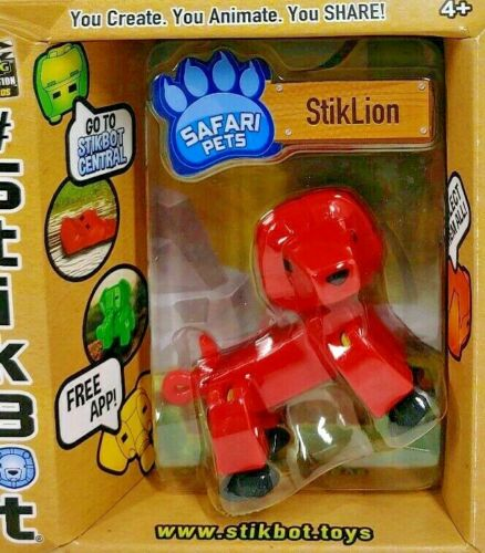 Rhino Lion Hippo Sealed Red Elephant New Lot of 4 StickBot Safari Pets
