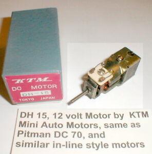 In-Line Motor 5 pole armature 12 Volt by KTM #DH 15 Vintage slot car w/Box NOS