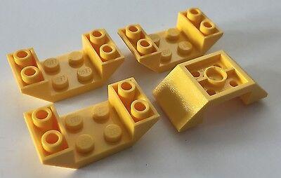 2 x Lego 60219 Brick Gradient Brick 4x6 Slope 45° Inverted New New Black Black