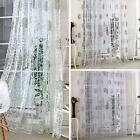 Floral Tulle Voile Door Window Curtain Drape Panel Sheer Scarf Valances 3 Colors