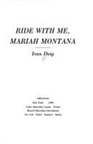 Ride With Me Mariah Montana By Ivan Doig 1990 Board Book Ebay