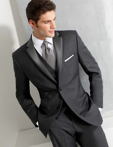 Image Is Loading Charcoal 5 Piece Men 039 S Wedding Suits