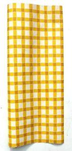 Rare VTG 1970s Yellow Brown Checkered