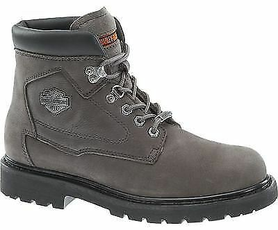 Grandes zapatos con descuento Harley Davidson Ladies Bayport Grey Leather Boots Biker Ride Women Trailer