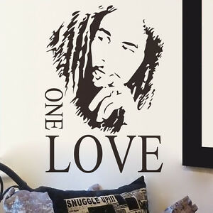 Bob marley one love mural removable decal room wall for Bob marley wall mural