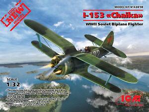 ICM 1/32 Polikarpov I-153 Chaika WWII Soviet Biplane Fighter # 32010