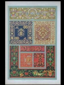Broderies Renaissance - Lithographie 1877 Dupont-auberville, Ornement, Florence Demande DéPassant L'Offre