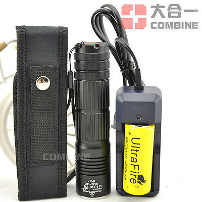 5000Lm CREE XM-L U2 LED Flashlight Torch 26650 Battery 5000mAh Charger Holster