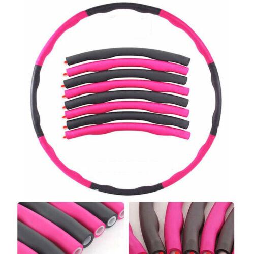 Swingfit Hoola Hoop für Erwachsene /& Kinder 8 Teile Fitness Hula Hoop Reifen