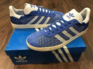 Image is loading ADIDAS-Gazelle-Primeknit-Mens-Trainers-Blue-Size-7-