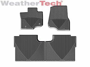 Weathertech All Weather Floor Mats For Ford F  Crew Cab   Black Ebay