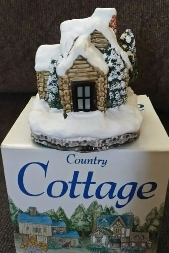 Ceramic Log Cabin #8202 Country Cottage Collection 1992