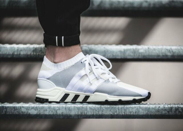 NEW Adidas EQT Support RF PK Mens Running Shoes Off White Black PRIMEKNIT BA7507
