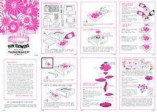 Fun Flowers instruction sheet for a Mattel Thingmaker (Creepy Crawlers)