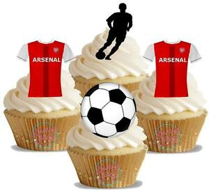 Novelty Arsenal Football Mix New Edible Cake Toppers ...