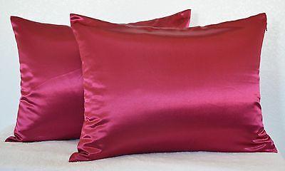 High Quality 2 Pieces Of Hidden Zipper Satin Pillow Case