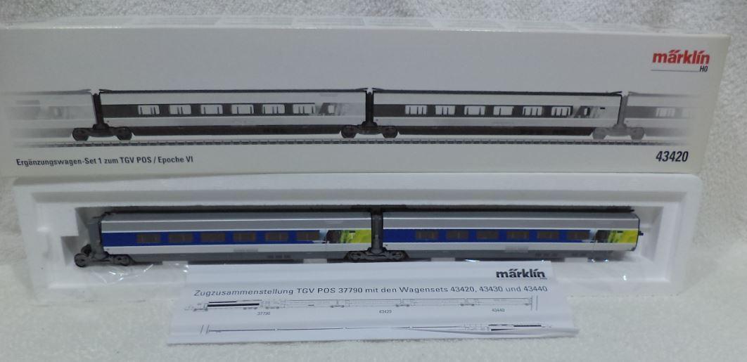 Marklin 43420 DIGITAAL MFX SNCF TGV POS uitbreiding 1 voor treinstel 37790