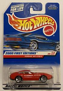 2000-HotWheels-FERRARI-365-GTB-4-DAYTONA-RED-ROSSO-molto-RARO-Nuovo-di-zecca-MOC