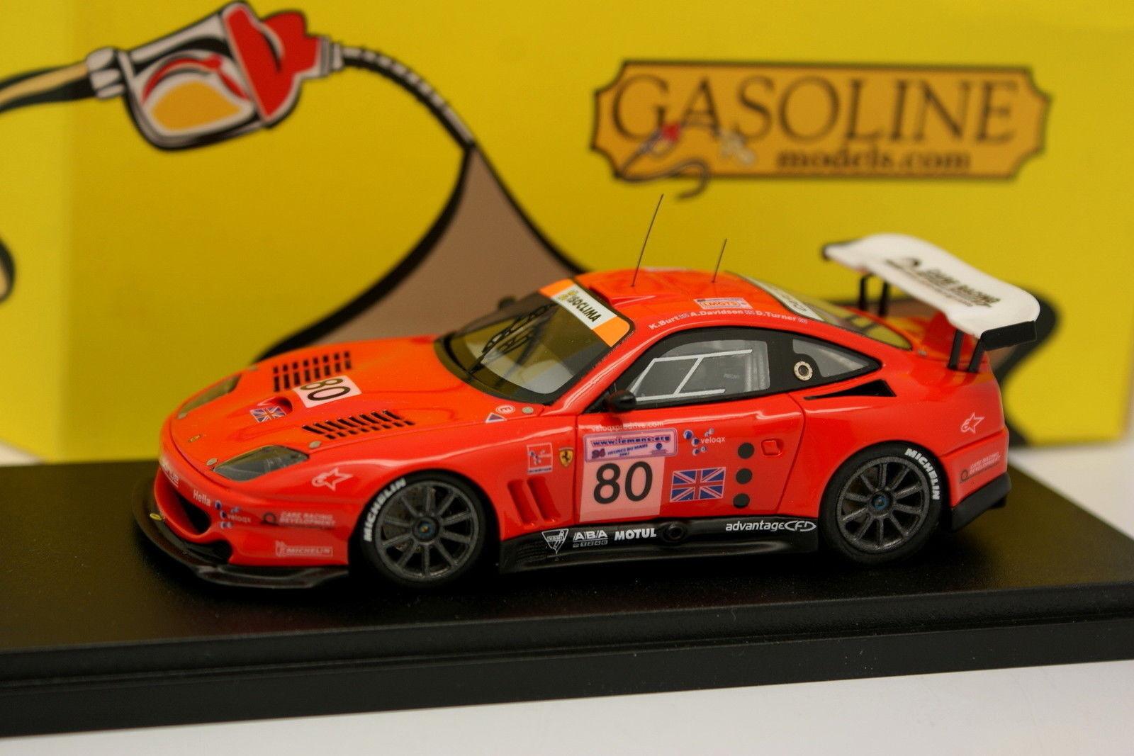 BBR Gasoline 1 43 - Ferrari 550 Maranello GTS Prodrive Le Mans 2003 N°80