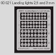 Eduard Landing Lights 1//48 1//32 2.5mm /& 3mm # 00021