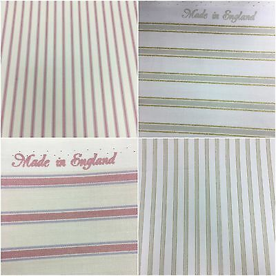 Green Gold /& Beige Stripes 100/% Wool Curtain//Furnishing Fabric.Made In England.