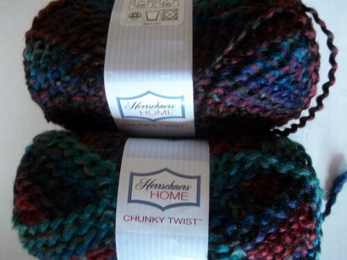 139 yds ea Herrschners Home Chunky Twist boucle yarn lot of 2 Agate
