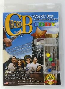 New in Package CHORD BUDDY Guitar Learning System With DVD