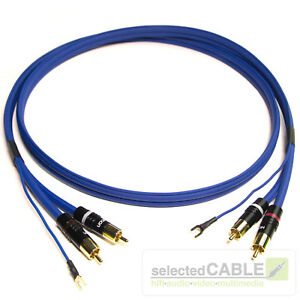 Phonokabel-1m-Cinchkabel-RCA-SOMMER-CABLE-2x-1x-0-35mm-Erdung-vergoldet-SC81