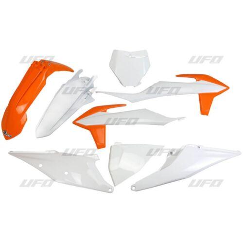 KTM SX 250 2019 Completo UFO Plastic Kit Blanco Naranja OEM