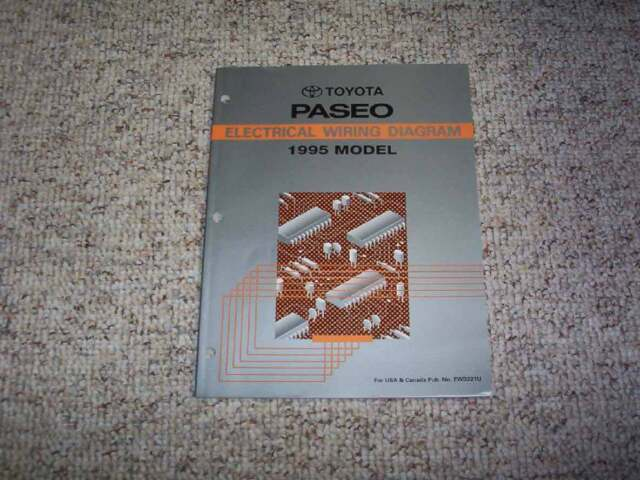 1995 Toyota Paseo Electrical Wiring Diagram Manual Coupe