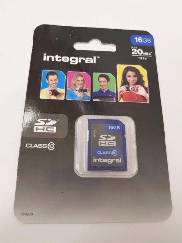 Integral INSDH 16G10V1 16GB SDHC clase 10 Tarjeta de memoria de hasta 20MB//s