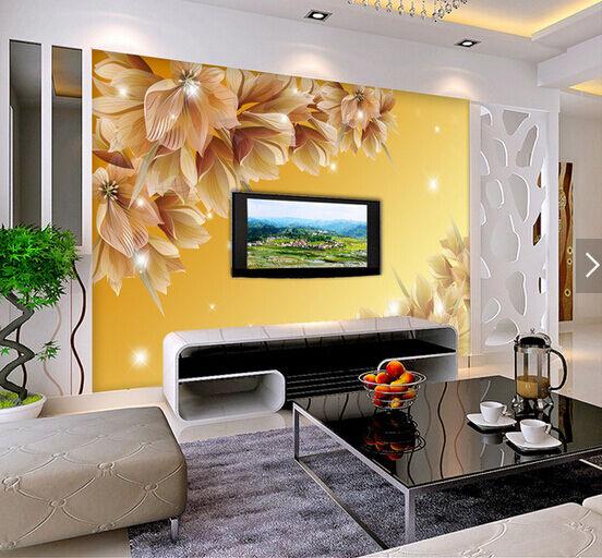 3D Schmetterlings-Blumen 4 Fototapeten Wandbild Fototapete BildTapete Familie DE