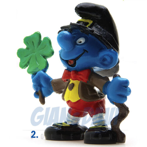 PUFFO PUFFI SMURF SMURFS SCHTROUMPF 2.0176 20176 St Patrick Puffo Irlandese 2B