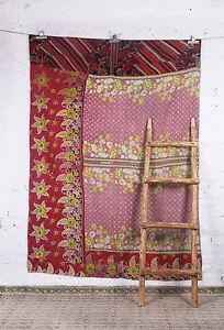 Bangali-Handmade-Twin-Size-Vintage-Kantha-Bedspread-Throw-Cotton-Blanket-Gudari