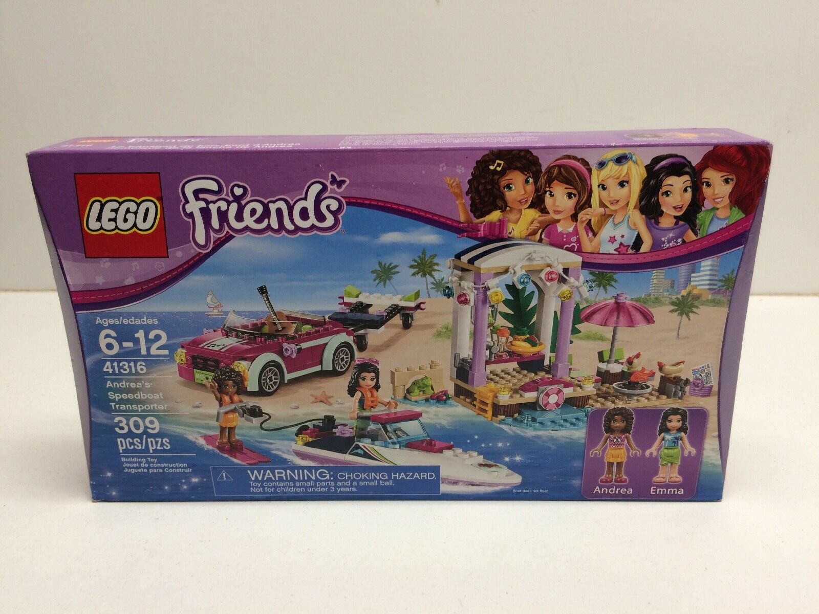 New Lego Friends 41316 Andreas Speedboat Transporter Factory Sealed NIB