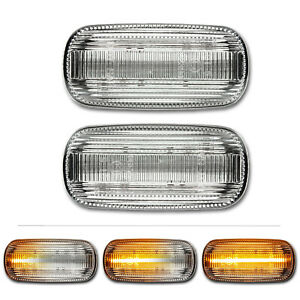 WEISSE dynamische LED Seitenblinker Audi A3 S3 A4 S4 RS4 A6 S6 RS Avant