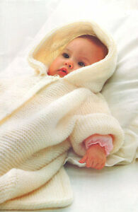 Easy Garter Stitch Baby Sleeping Bag Hood Cot Cover 0 9