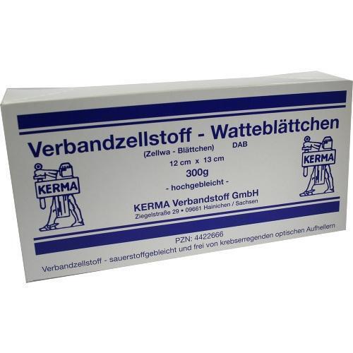 VERBANDZELLSTOFF Watteblättch.12x13 cm hochgebl. 300 g