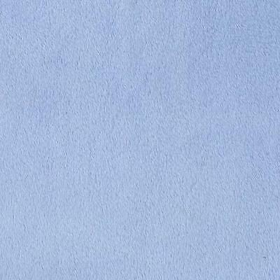Fat Quarter Light Blue Minkey Minkie Cotton Quilting Fabric - 50 x 55cm - Nutex