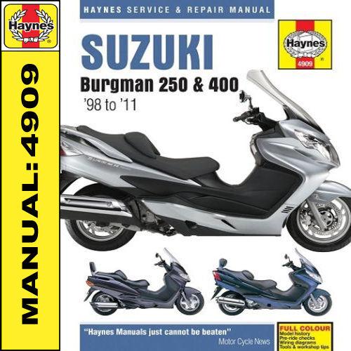 suzuki burgman 250 400 haynes workshop manual an250 an400 ebay rh ebay co uk 2011 suzuki burgman 400 owners manual Suzuki Burgman 400 Specs