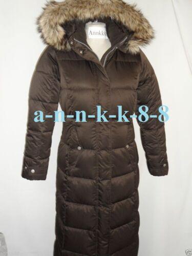 NWT Eddie Bauer Womens Essential Down Duffle Coat 550 FP Cocoa//Black $229