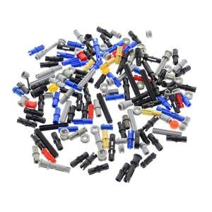 100-Lego-Technic-Klein-Teile-z-B-Pin-Stopper-Stecker-kurz-Achse-bunt-gemischt