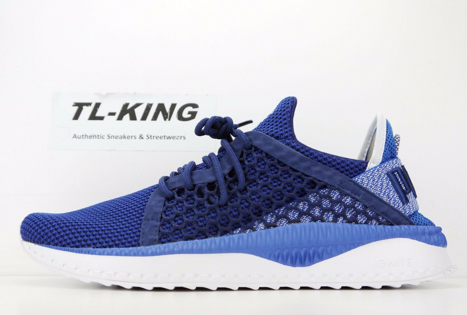 Puma Tsugi Netfit Lapis Blue Depths White Trainers 364629 03 Msrp Price reduction