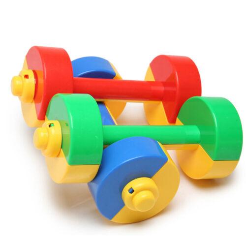 1 Pair Plastic Dumbbell Ergonomic Children Morning Exercise Barbells Sport Tool