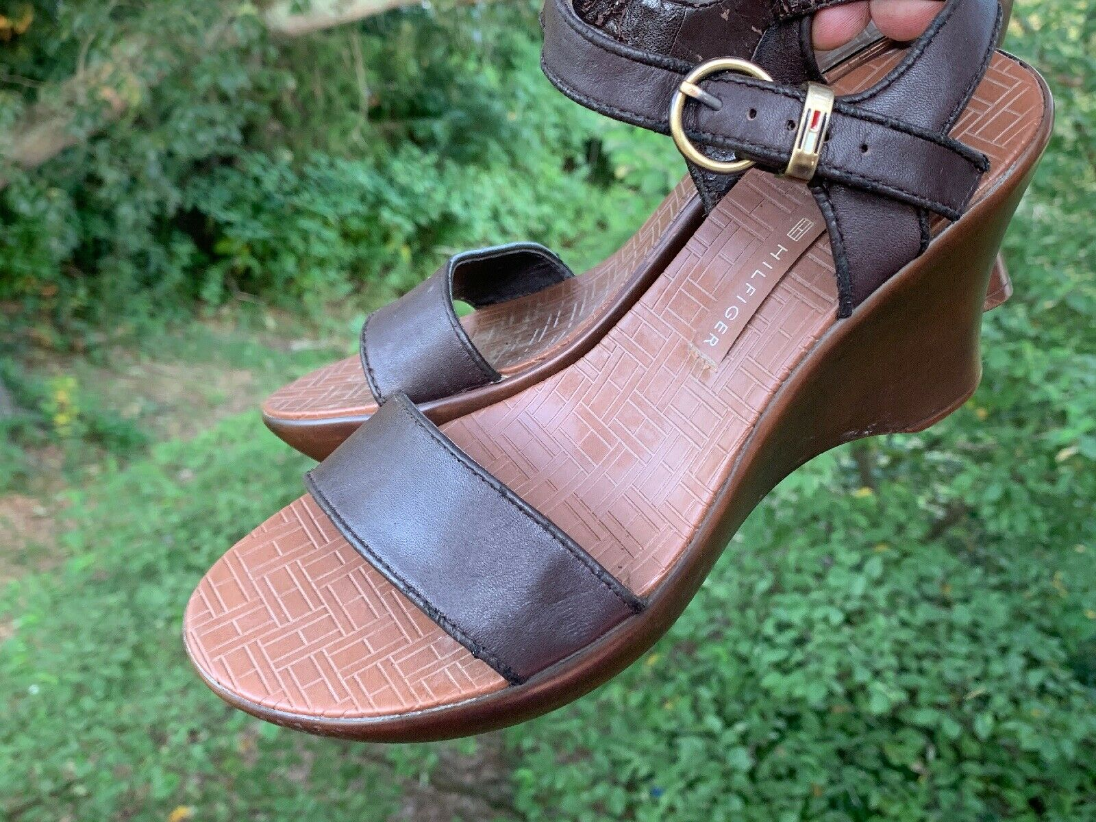 TOMMY HILFIGER Leather Slingbacks Clogs Mules Wed… - image 8
