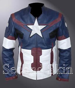 Kid/'s Capitán América Los Vengadores Edad de Ultron Steve Rogers Chris Evans Chaqueta